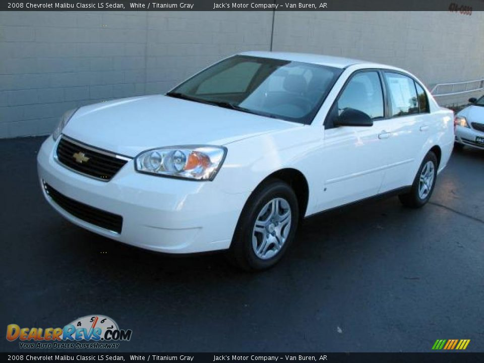 2008 Chevrolet Malibu Classic Ls Sedan White Titanium