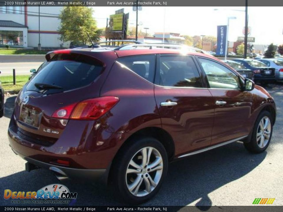 2009 nissan murano le awd merlot metallic beige photo 6. Black Bedroom Furniture Sets. Home Design Ideas