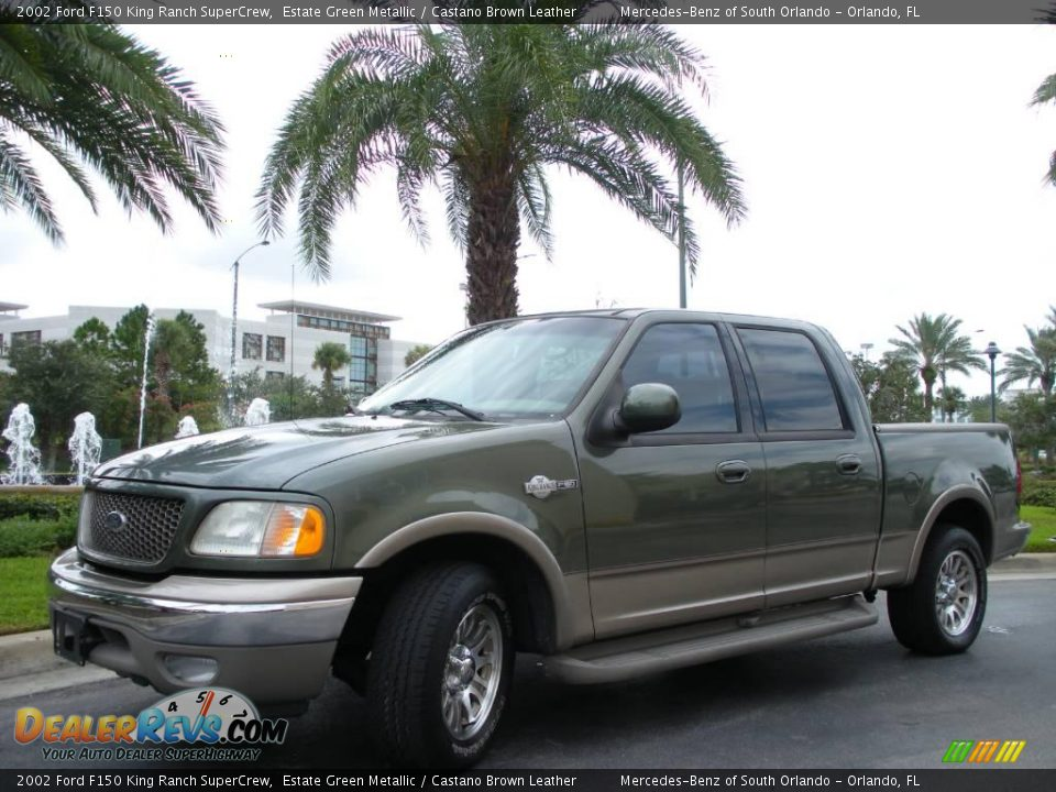 2002 ford f150 king ranch supercrew estate green metallic castano brown leather photo 2. Black Bedroom Furniture Sets. Home Design Ideas