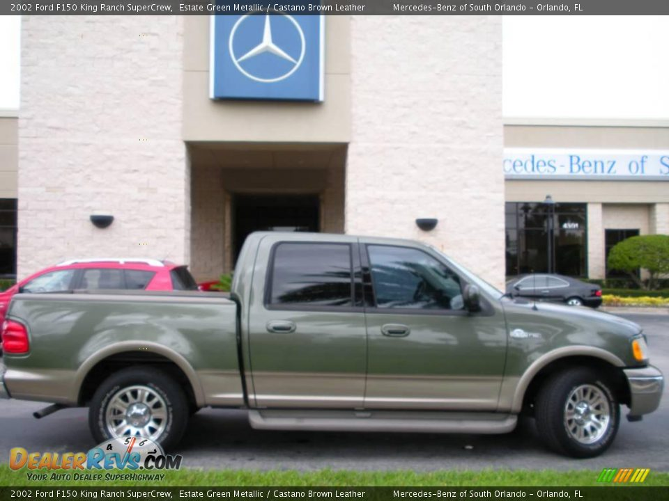 2002 ford f150 king ranch supercrew estate green metallic castano brown leather photo 5. Black Bedroom Furniture Sets. Home Design Ideas
