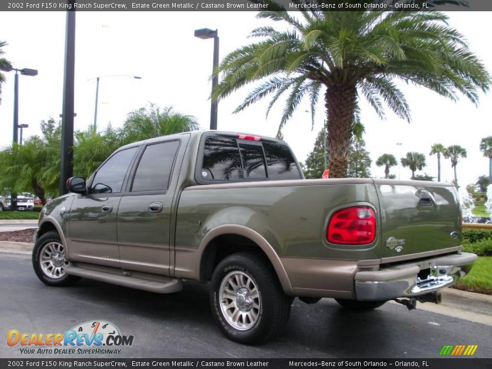 2002 ford f150 king ranch supercrew estate green metallic castano brown leather photo 7. Black Bedroom Furniture Sets. Home Design Ideas