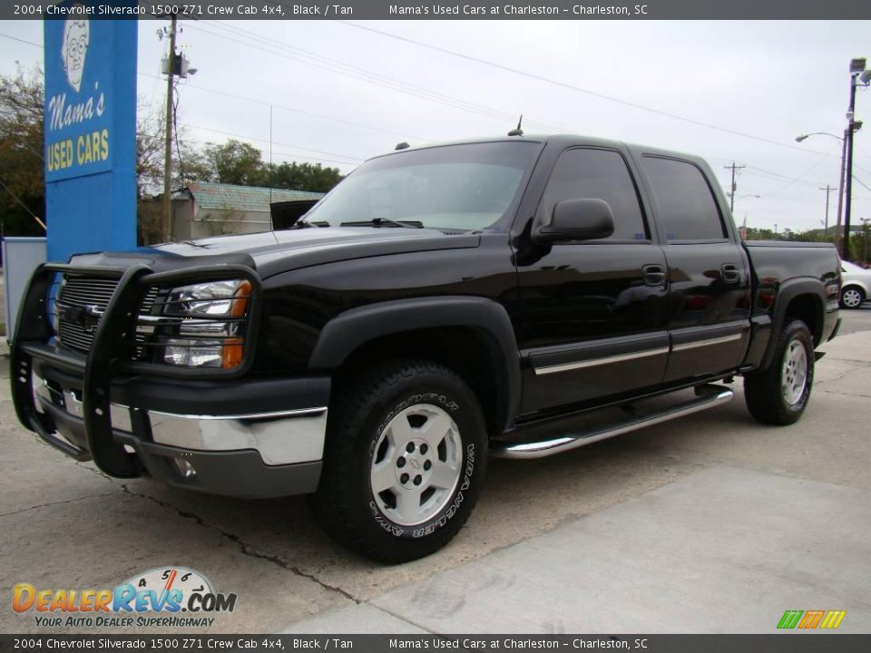 2004 chevrolet silverado 1500 z71 crew cab 4x4 black tan photo 4. Black Bedroom Furniture Sets. Home Design Ideas