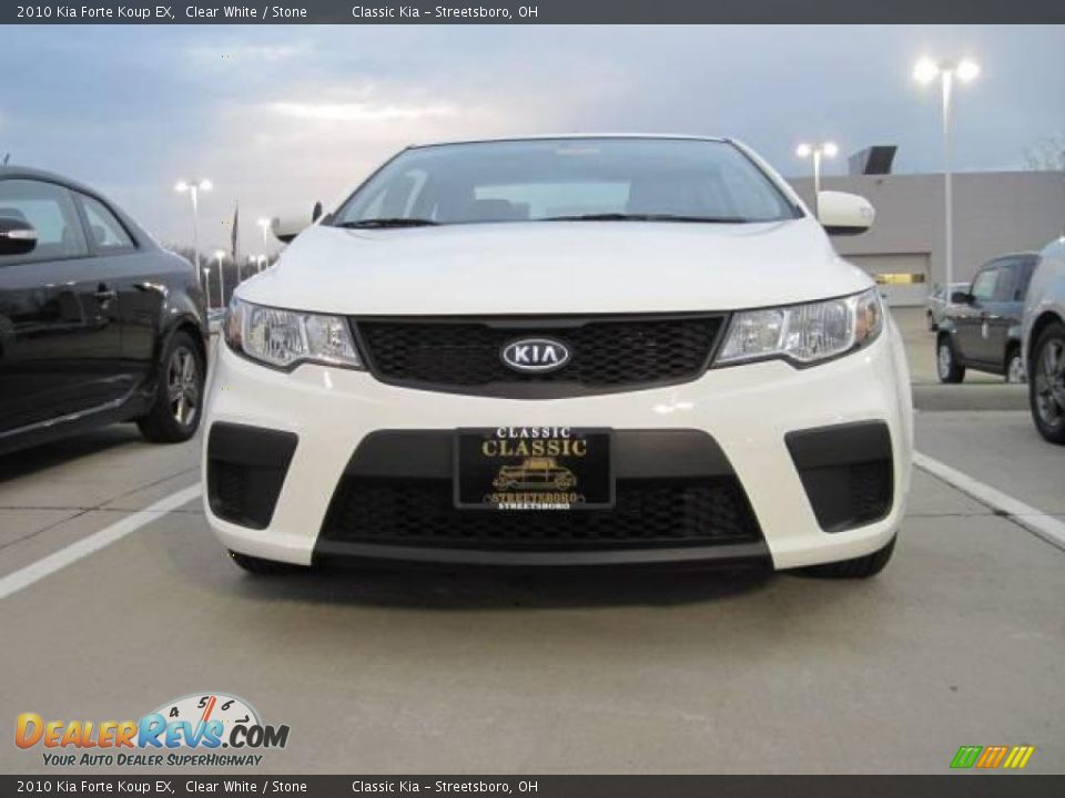 2010 kia forte koup ex clear white stone photo 2. Black Bedroom Furniture Sets. Home Design Ideas
