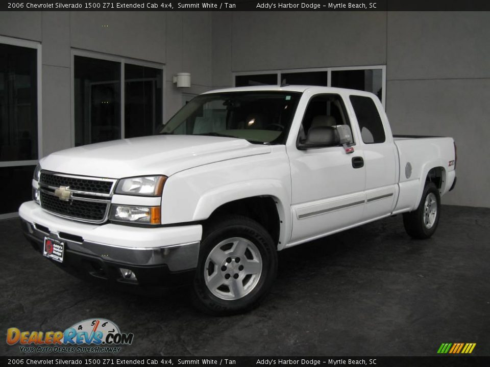 2006 chevrolet silverado 1500 z71 extended cab 4x4 summit white tan photo 1. Black Bedroom Furniture Sets. Home Design Ideas