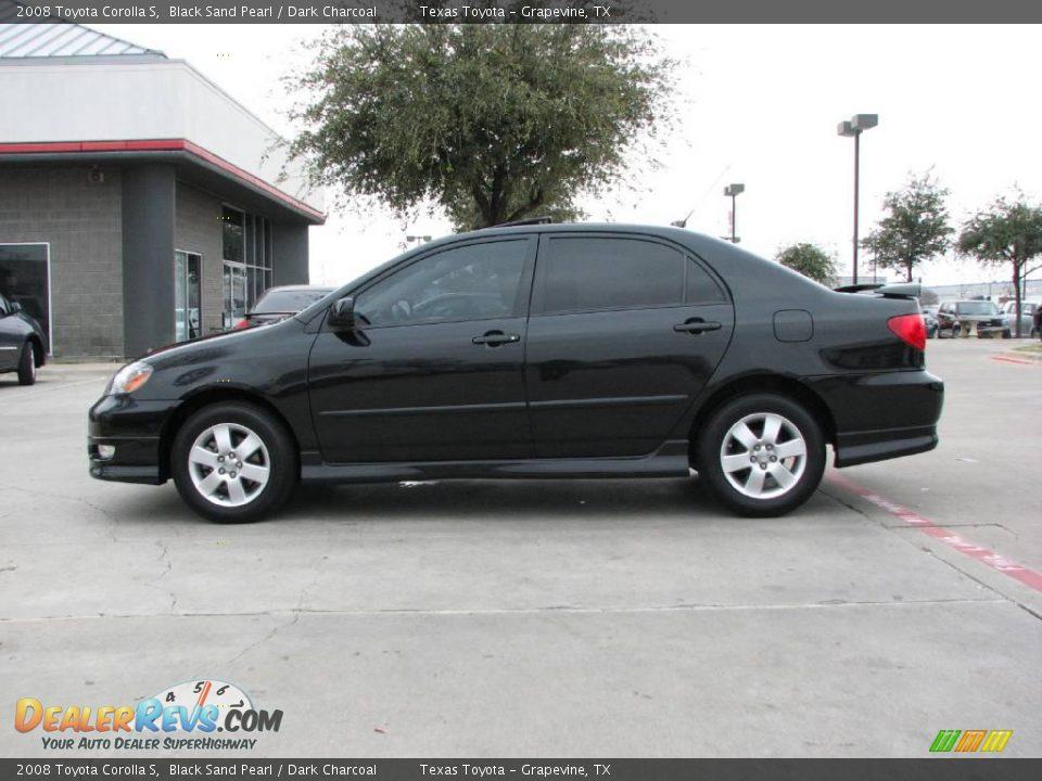 2008 Toyota Corolla S Black Sand Pearl Dark Charcoal