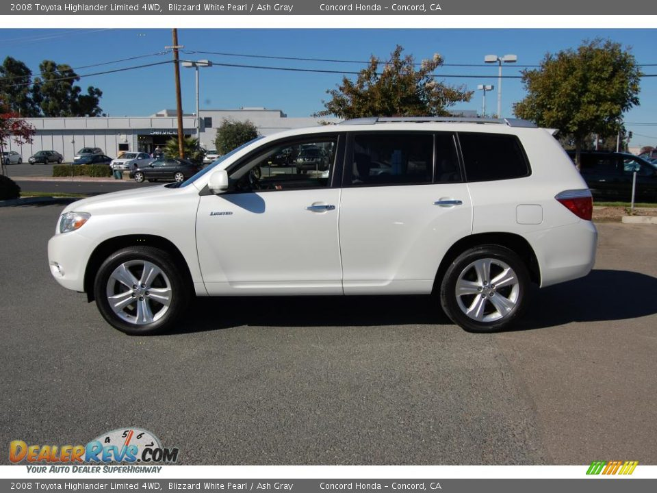 2008 Toyota Highlander Limited 4wd Blizzard White Pearl