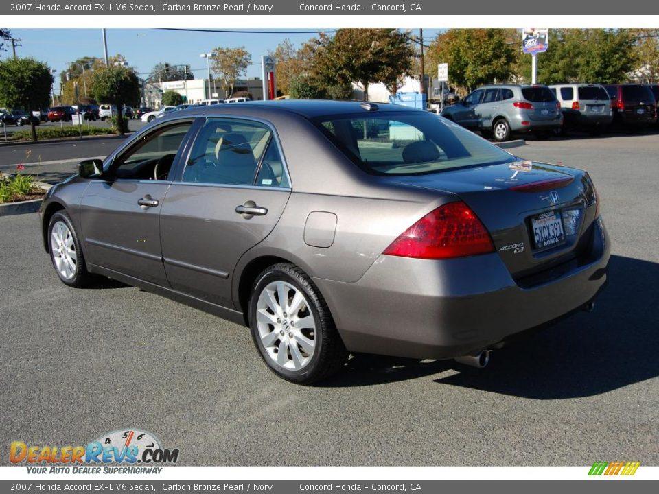 2007 Honda Accord Ex L V6 Sedan Carbon Bronze Pearl Ivory Photo 5 Dealerrevs Com