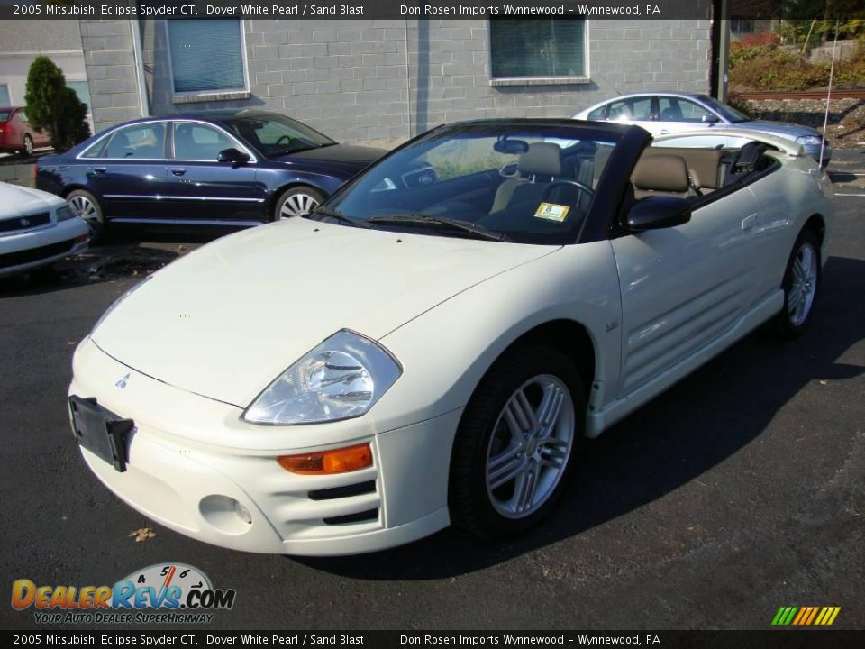 2005 mitsubishi eclipse spyder gt dover white pearl sand blast photo 1. Black Bedroom Furniture Sets. Home Design Ideas