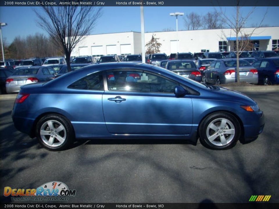 2008 honda civic ex l coupe atomic blue metallic gray. Black Bedroom Furniture Sets. Home Design Ideas