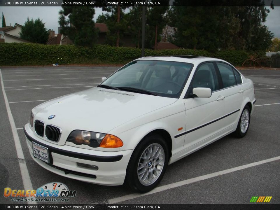 2000 bmw 3 series 328i sedan alpine white grey photo 1. Black Bedroom Furniture Sets. Home Design Ideas