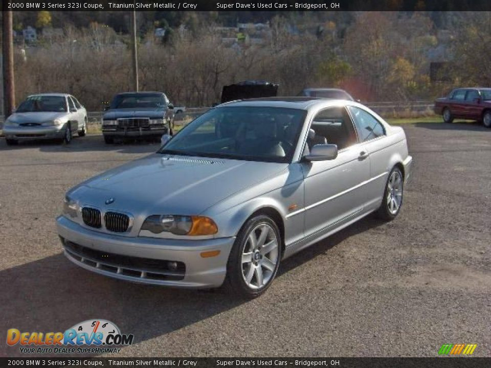 2000 bmw 3 series 323i coupe titanium silver metallic grey photo 1. Black Bedroom Furniture Sets. Home Design Ideas