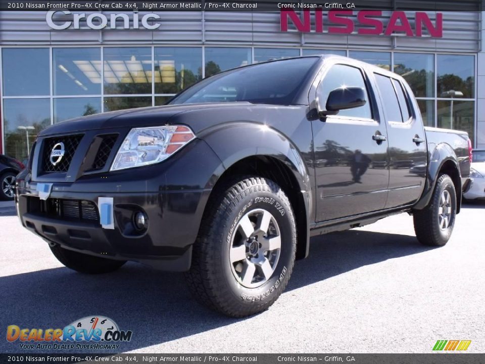 2010 nissan frontier pro 4x crew cab 4x4 night armor metallic pro 4x charcoal photo 1. Black Bedroom Furniture Sets. Home Design Ideas