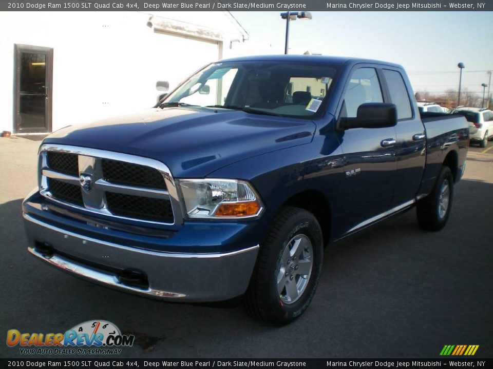 2010 dodge ram 1500 slt quad cab 4x4 deep water blue pearl dark slate medium graystone photo. Black Bedroom Furniture Sets. Home Design Ideas