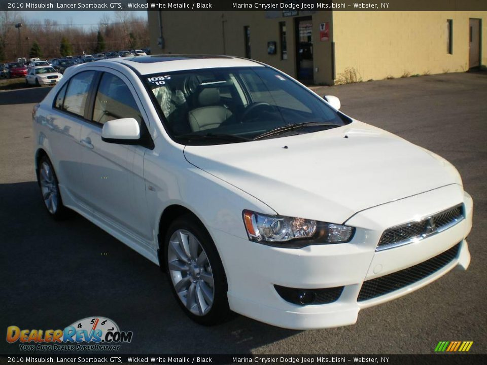 2010 mitsubishi lancer sportback gts wicked white metallic black photo 12. Black Bedroom Furniture Sets. Home Design Ideas