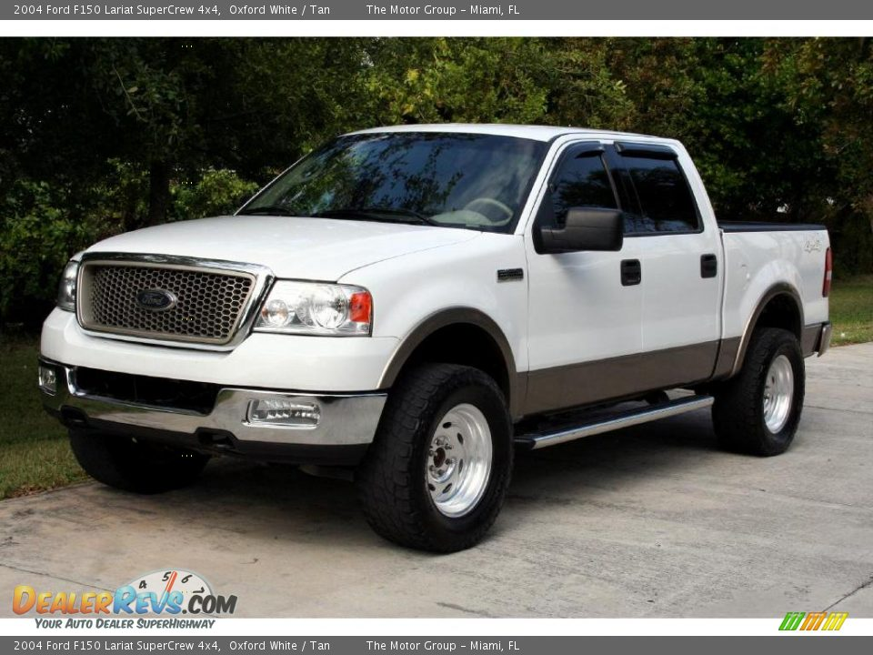 2004 ford f150 lariat supercrew 4x4 oxford white tan. Black Bedroom Furniture Sets. Home Design Ideas