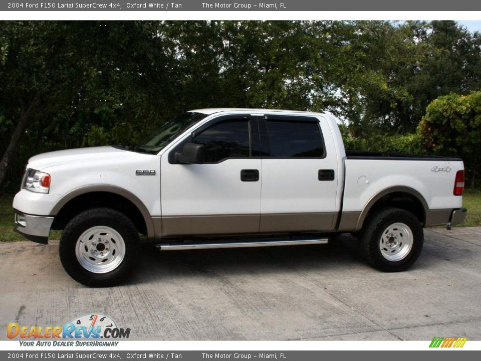 2004 ford f150 lariat supercrew 4x4 oxford white tan photo 4. Black Bedroom Furniture Sets. Home Design Ideas