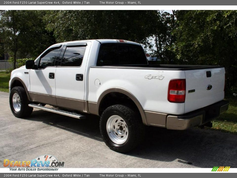 2004 ford f150 lariat supercrew 4x4 oxford white tan photo 8. Black Bedroom Furniture Sets. Home Design Ideas