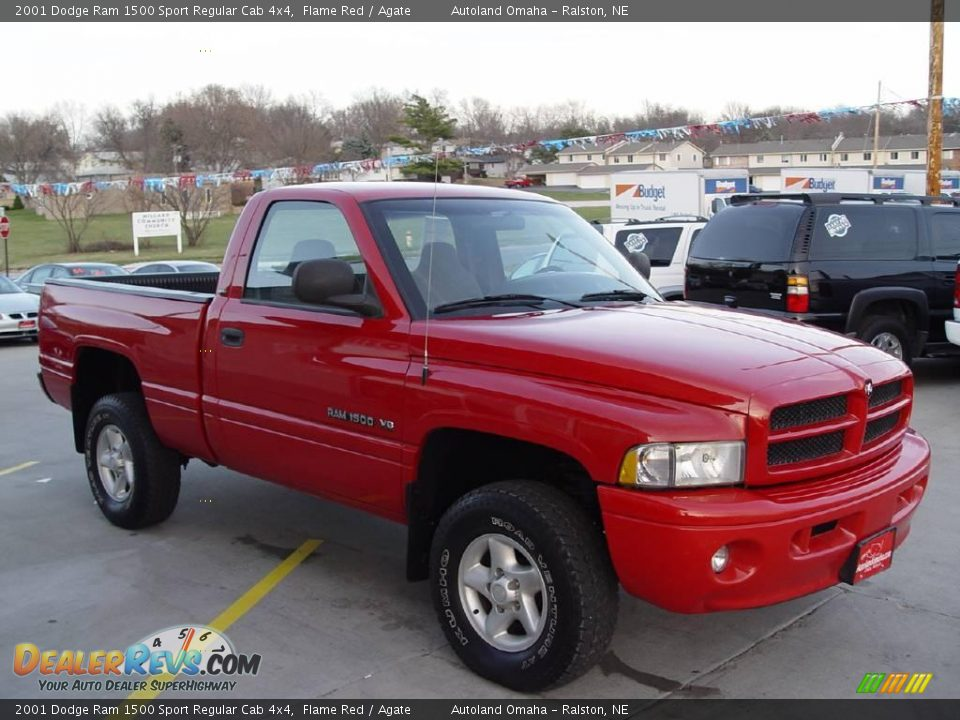 2001 dodge ram 1500 sport regular cab 4x4 flame red agate photo 2. Black Bedroom Furniture Sets. Home Design Ideas