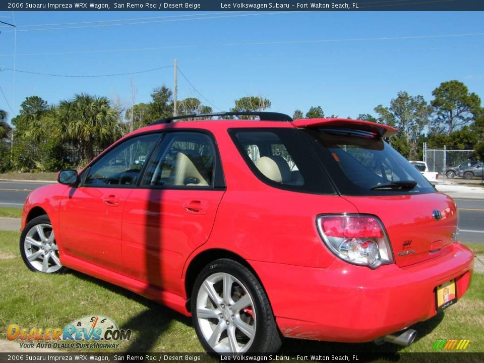2006 Subaru Impreza Wrx Wagon San Remo Red Desert Beige