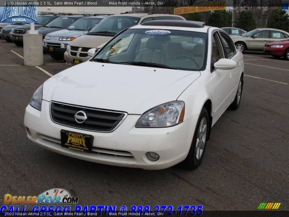 2003 nissan altima 2 5 sl satin white pearl blond photo 3. Black Bedroom Furniture Sets. Home Design Ideas