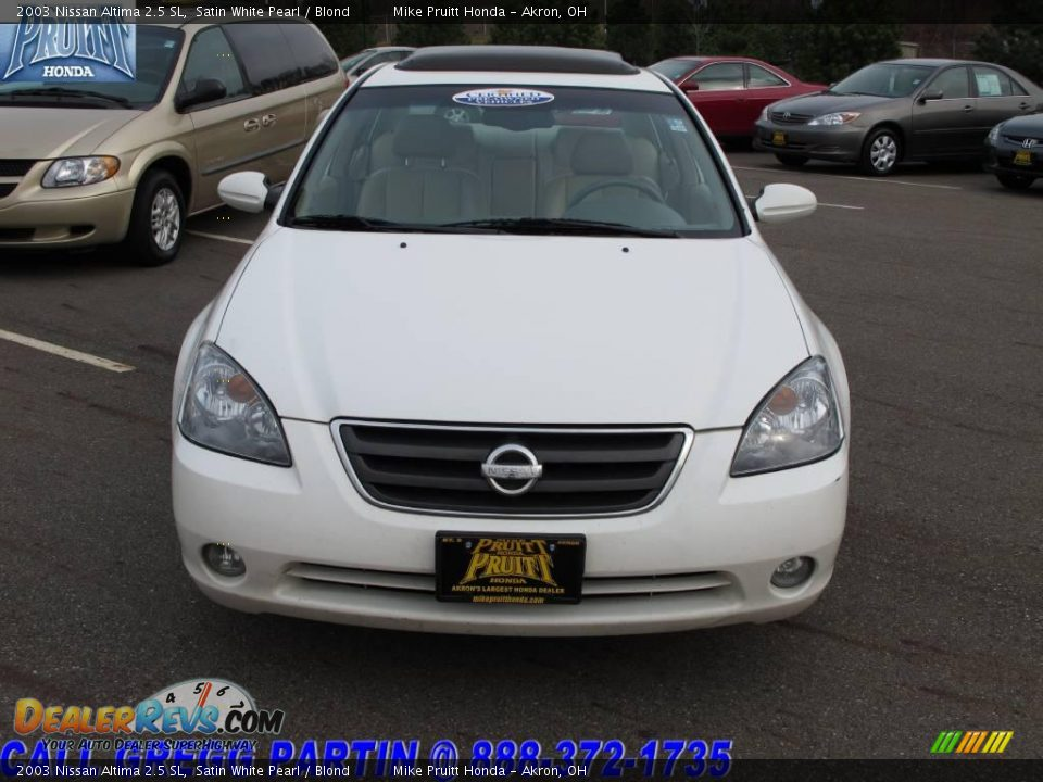 2003 nissan altima 2 5 sl satin white pearl blond photo 4. Black Bedroom Furniture Sets. Home Design Ideas