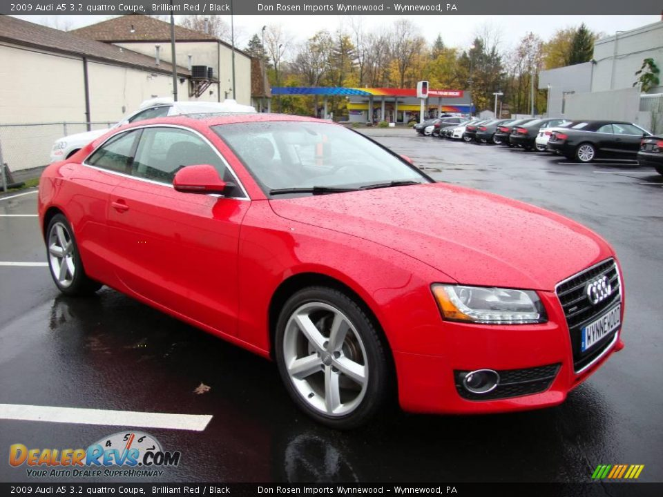 2009 Audi A5 3 2 Quattro Coupe Brilliant Red Black Photo