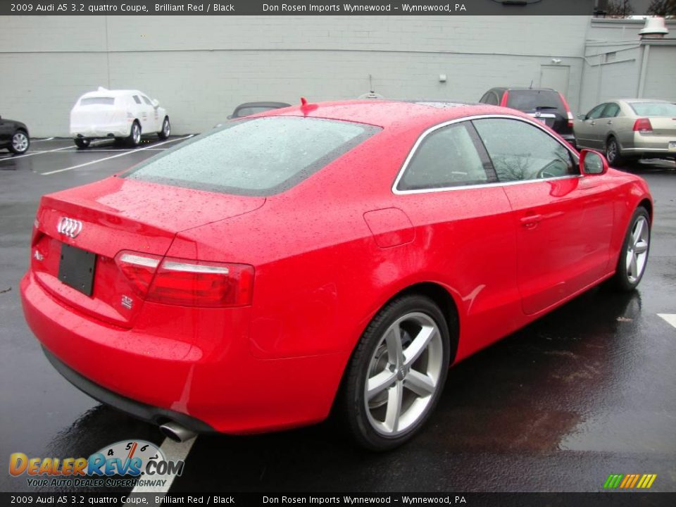 2009 audi a5 3 2 quattro coupe brilliant red black photo. Black Bedroom Furniture Sets. Home Design Ideas