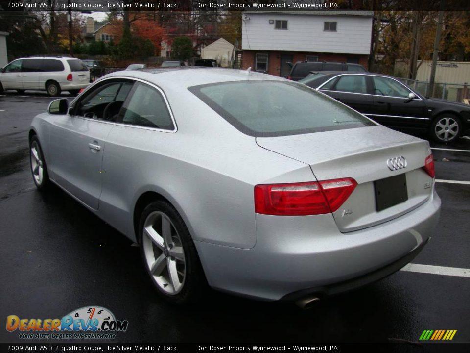 2009 Audi A5 3 2 Quattro Coupe Ice Silver Metallic Black