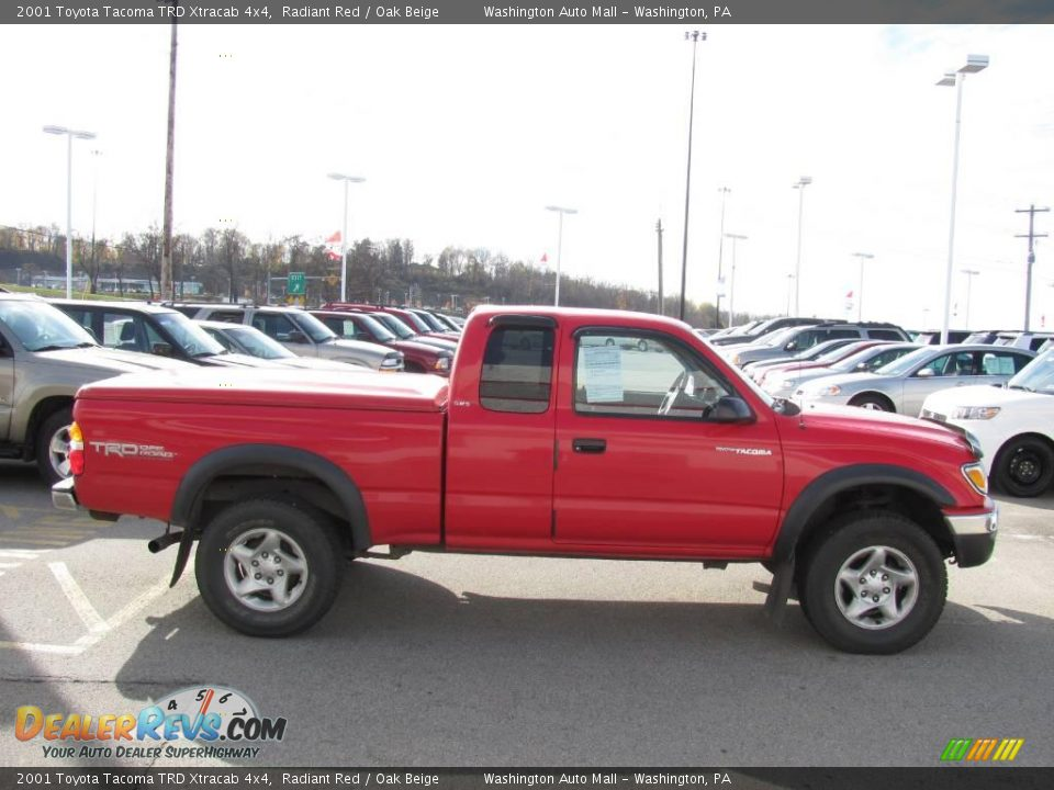 2001 Toyota Tacoma Trd Xtracab 4x4 Radiant Red Oak Beige