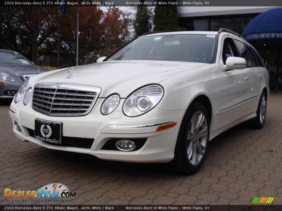 2009 mercedes benz e 350 4matic wagon arctic white black for 2009 mercedes benz e350 4matic