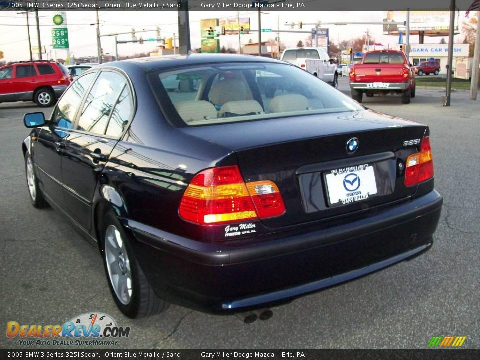 2005 Bmw 3 Series 325i Sedan Orient Blue Metallic Sand