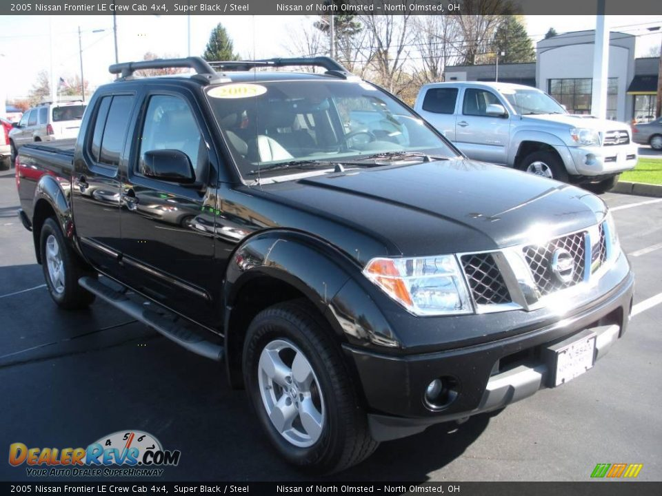 2005 nissan frontier le crew cab 4x4 super black steel. Black Bedroom Furniture Sets. Home Design Ideas