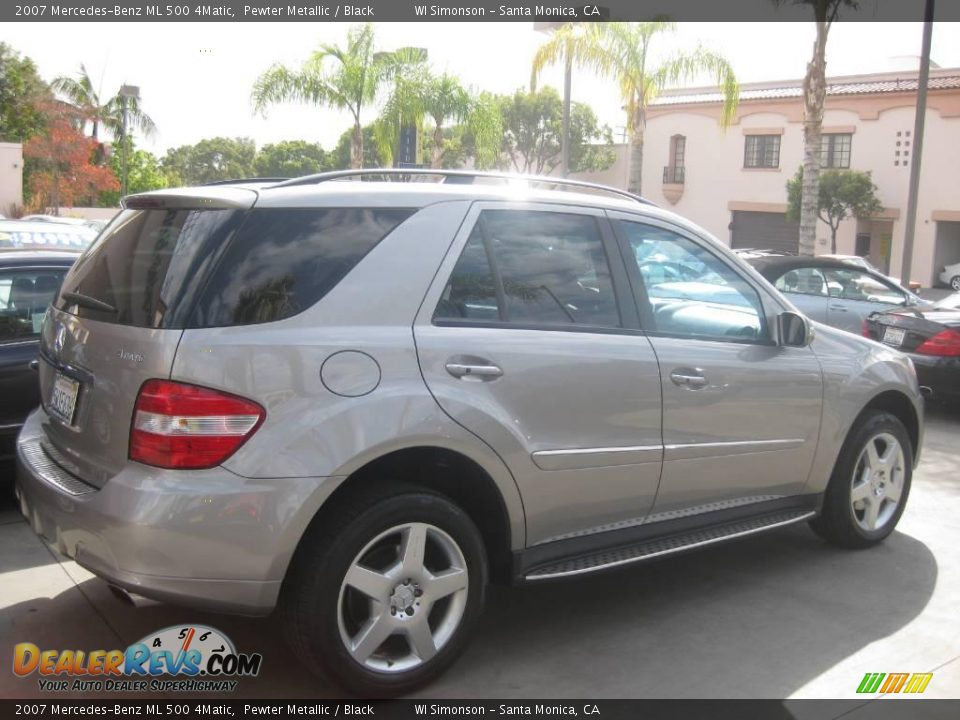 2007 mercedes benz ml 500 4matic pewter metallic black photo 2. Black Bedroom Furniture Sets. Home Design Ideas