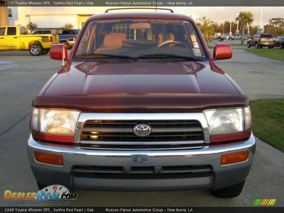 1998 Toyota 4Runner SR5 Sunfire Red Pearl / Oak Photo #8 ...
