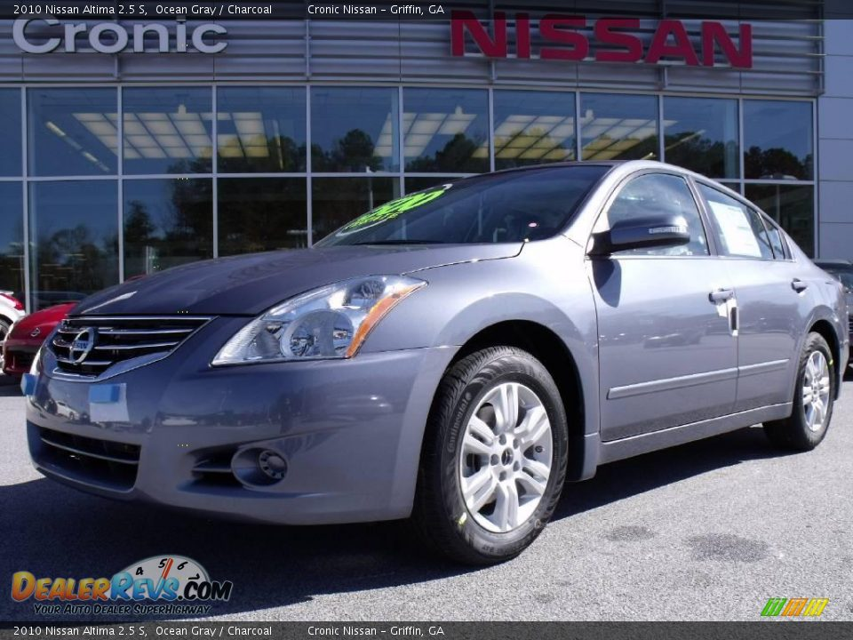 2010 nissan altima 2 5 s ocean gray charcoal photo 1. Black Bedroom Furniture Sets. Home Design Ideas