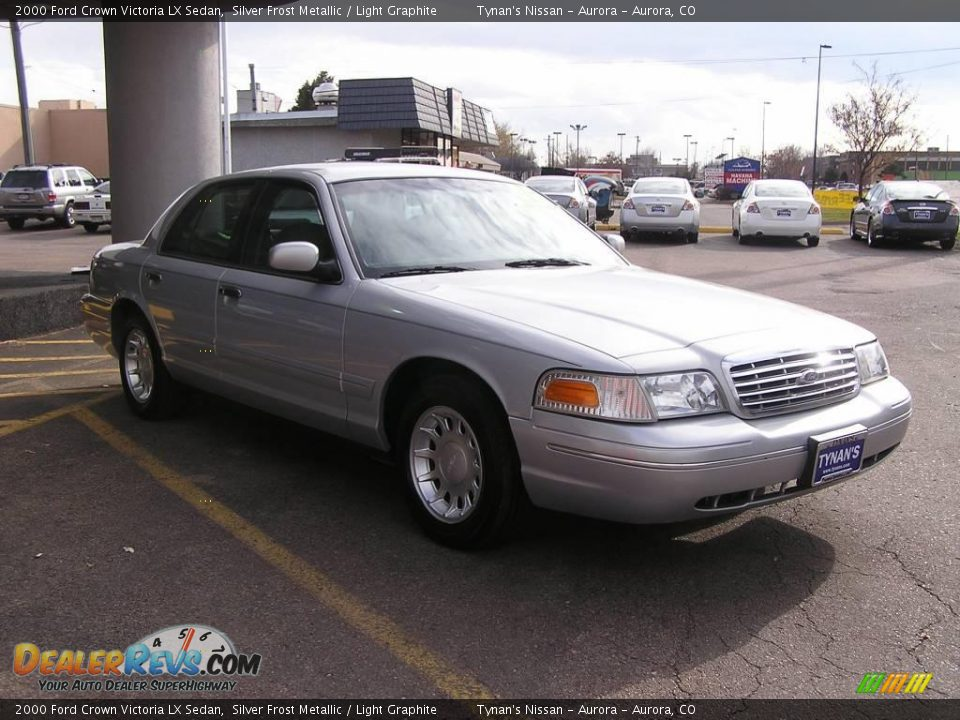 2000 ford crown victoria lx sedan silver frost metallic light graphite photo 3. Black Bedroom Furniture Sets. Home Design Ideas