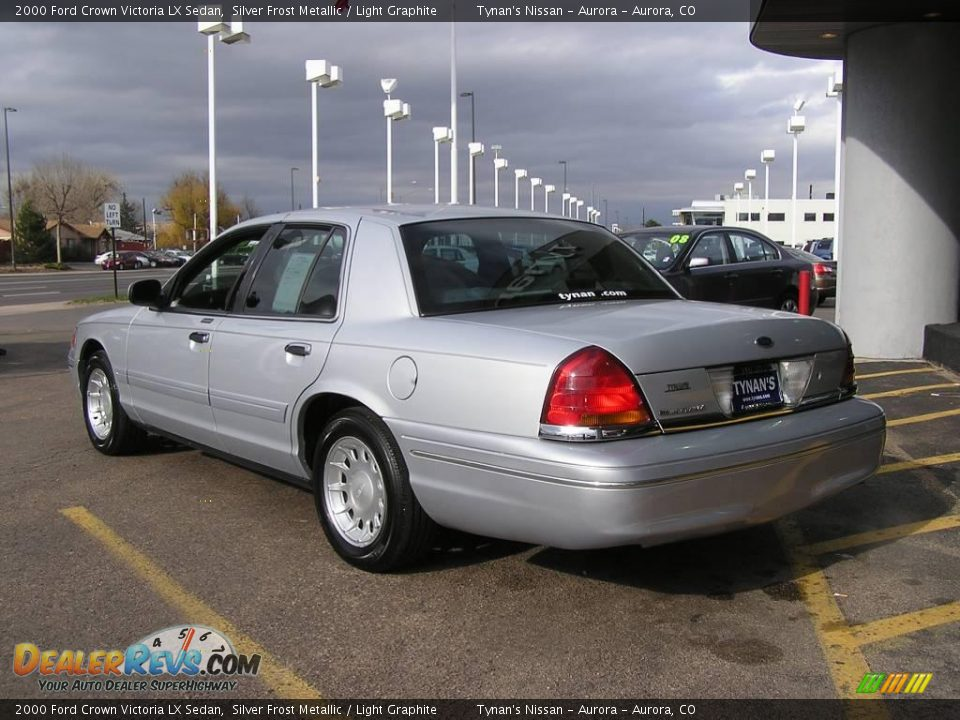 2000 ford crown victoria lx sedan silver frost metallic light graphite photo 4. Black Bedroom Furniture Sets. Home Design Ideas