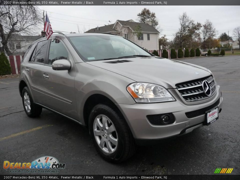 2007 mercedes benz ml 350 4matic pewter metallic black for Mercedes benz ml 350 2007