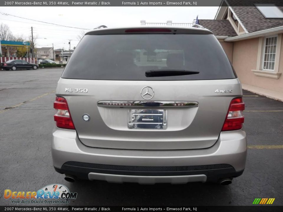 2007 mercedes benz ml 350 4matic pewter metallic black photo 12. Black Bedroom Furniture Sets. Home Design Ideas