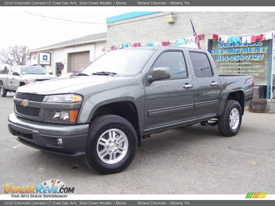2010 chevrolet colorado lt crew cab 4x4 steel green. Black Bedroom Furniture Sets. Home Design Ideas