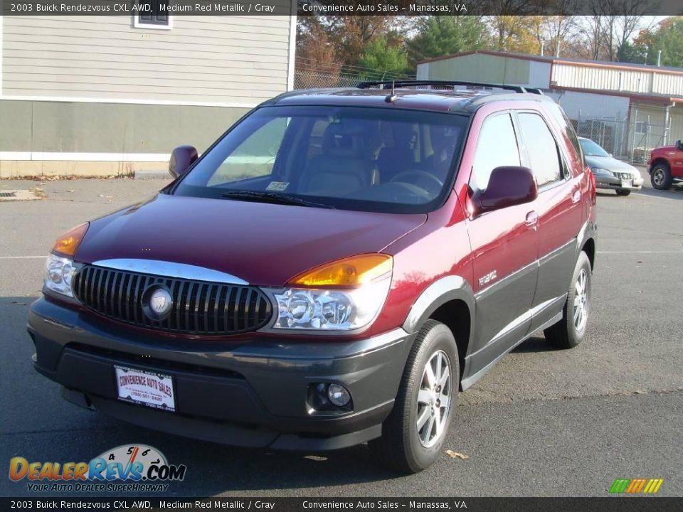 2003 Buick Rendezvous Cxl Awd Medium Red Metallic Gray