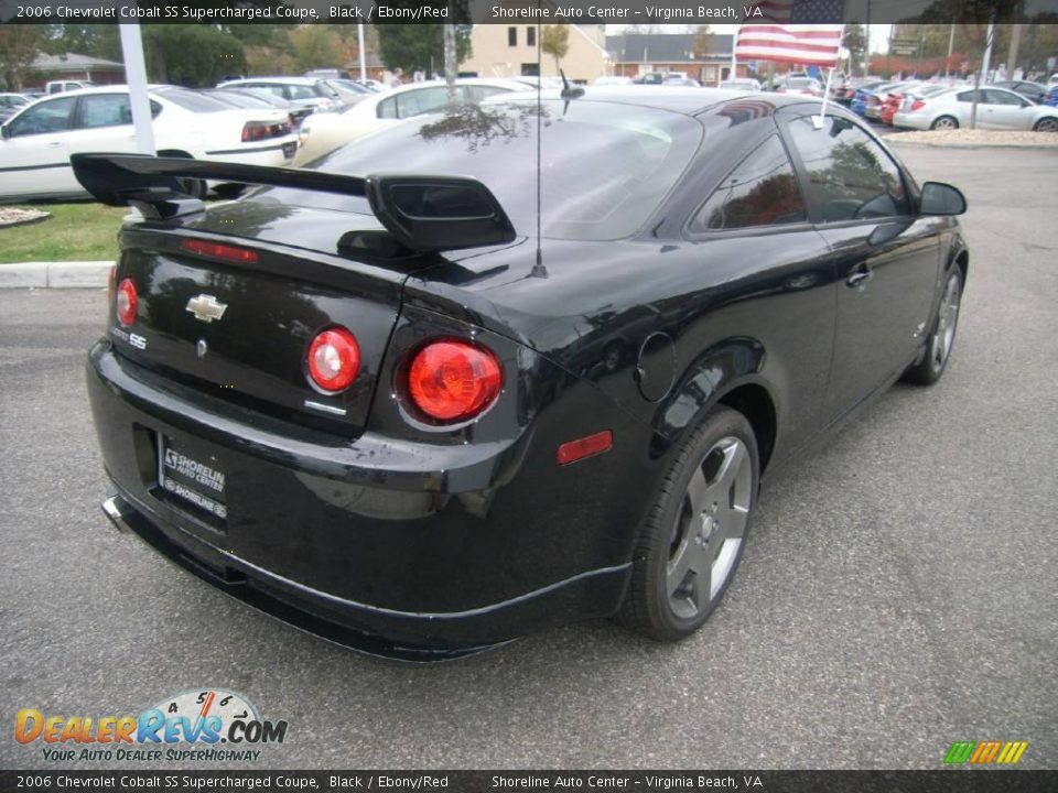 2006 chevrolet cobalt ss supercharged coupe black ebony red photo 7. Black Bedroom Furniture Sets. Home Design Ideas