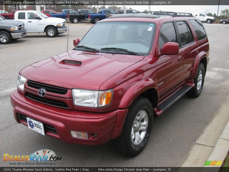 2002 Toyota 4runner Sport Edition Sunfire Red Pearl Gray