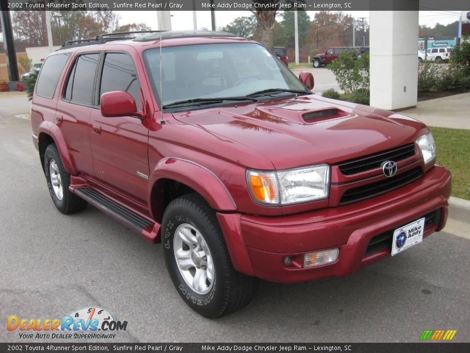 2002 toyota 4runner sport edition sunfire red pearl gray photo 7. Black Bedroom Furniture Sets. Home Design Ideas
