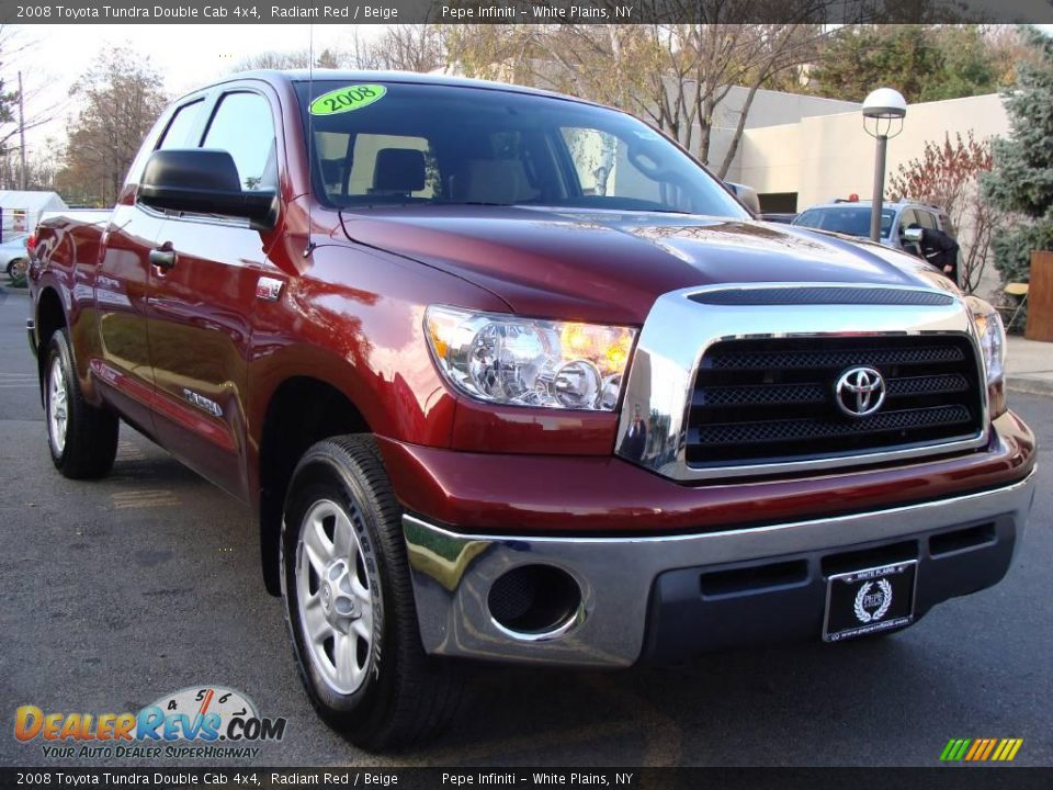 2008 toyota tundra double cab 4x4 radiant red beige photo 3. Black Bedroom Furniture Sets. Home Design Ideas