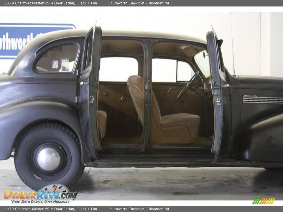 1939 chevrolet master 85 4 door sedan black tan photo 4 for 1939 chevy 4 door sedan