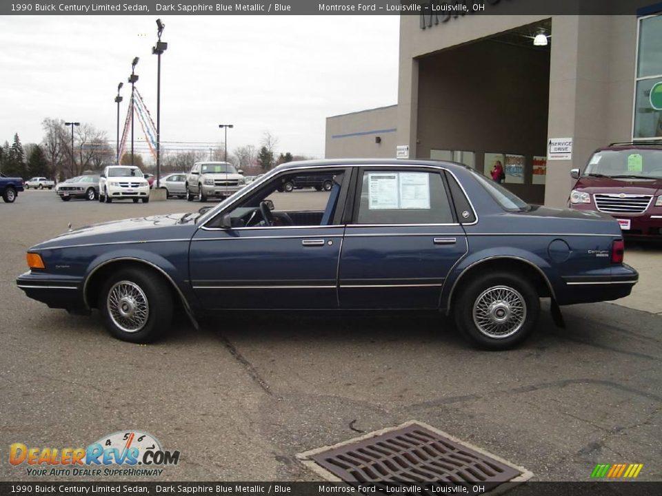 1990 Buick Century Limited Sedan Dark Sapphire Blue