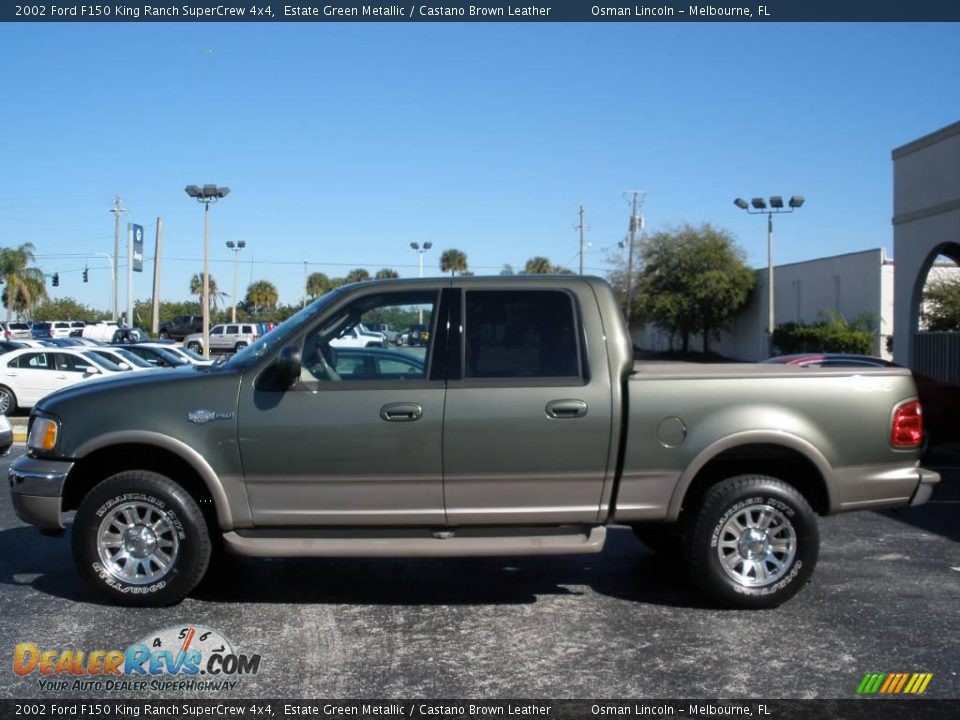 2002 ford f150 king ranch supercrew 4x4 estate green metallic castano brown leather photo 1. Black Bedroom Furniture Sets. Home Design Ideas