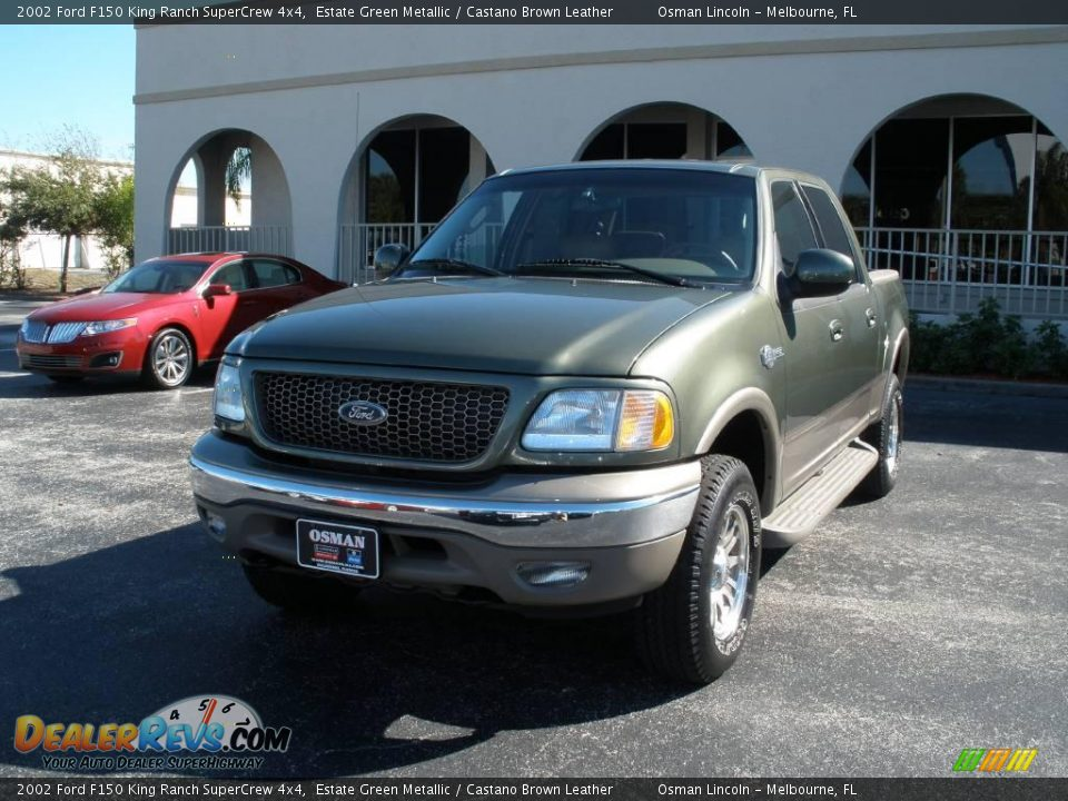 2002 ford f150 king ranch supercrew 4x4 estate green metallic castano brown leather photo 2. Black Bedroom Furniture Sets. Home Design Ideas