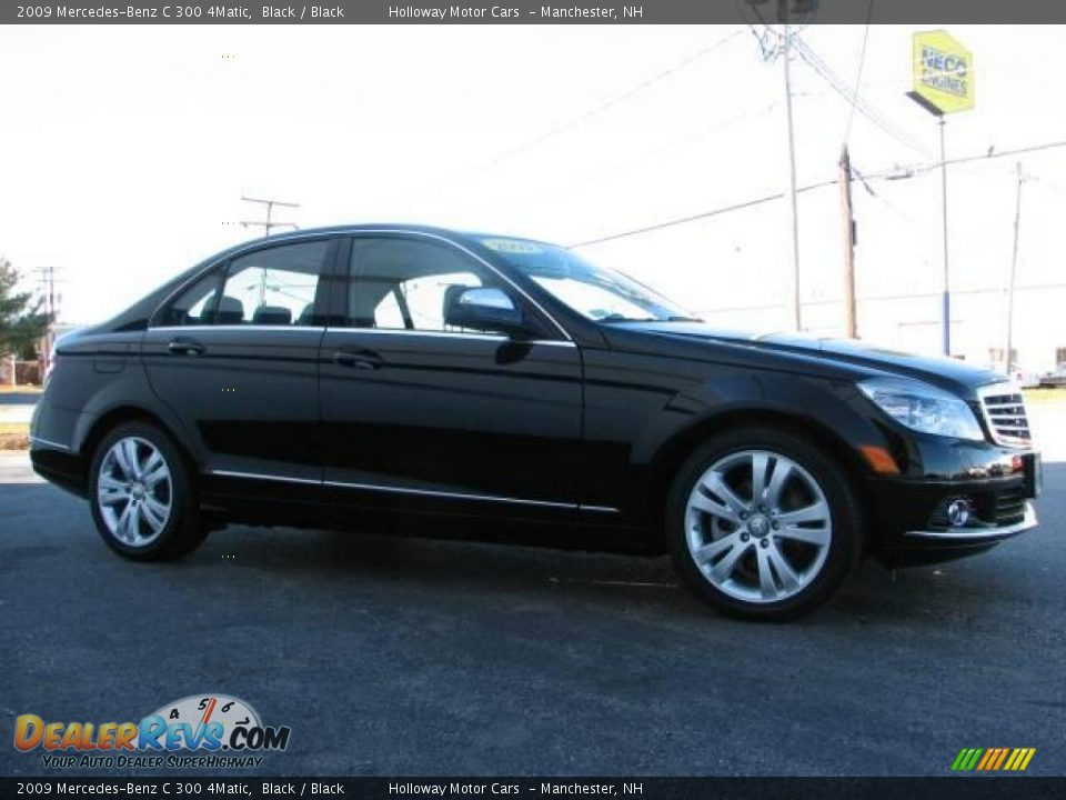 2009 mercedes benz c 300 4matic black black photo 3